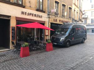 Installation de deux unités de climatisation réversible Mitsubishi - Restaurant HESPERIUS à Metz - PABST