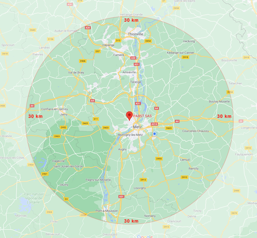 PABST Rayon d'intervention sur 30 km
